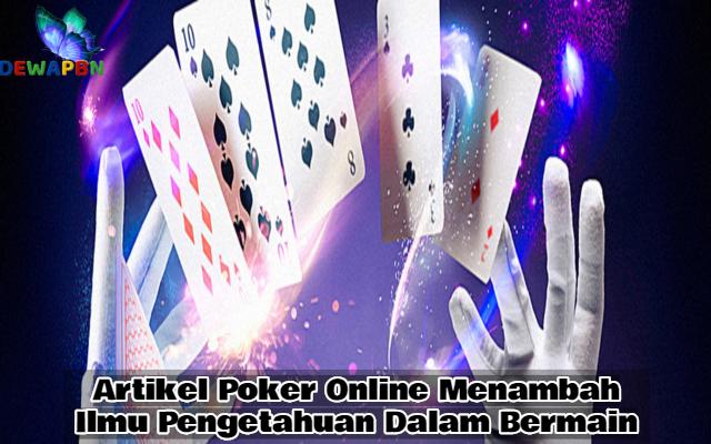 Artikel Poker Online